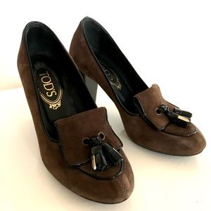Tod's Suede Stacked Heels